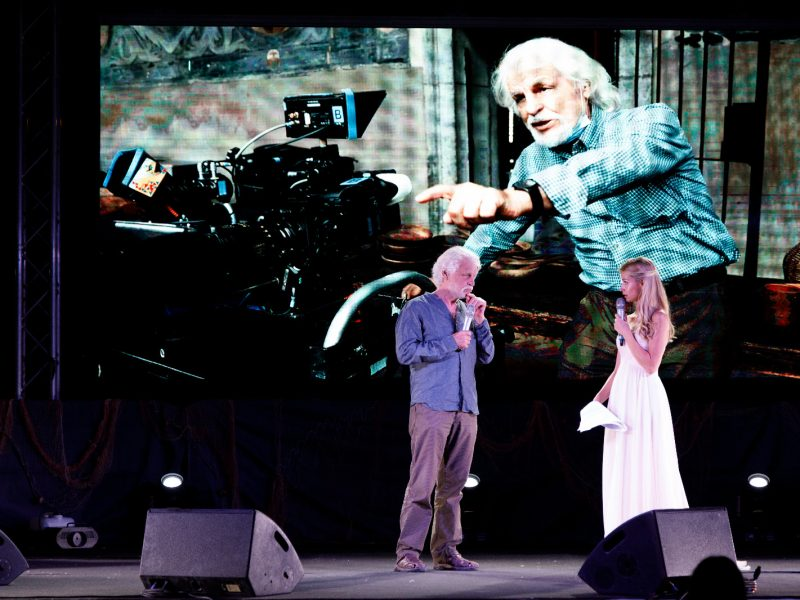 Michele Placido sul palco